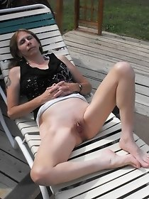 Relaxation after a hot masturbation outdoor
