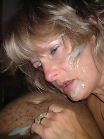 Cum on mature face closeup - free photo collection