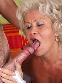 Guy fucks horny grandma - old and young sex pics