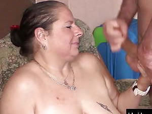 Busty German mature and her young boyfriend have fun