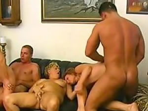 Hardcore mature family orgy - old and young porn tube